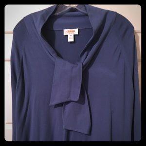 Talbots Tie-Collar Long-Sleeve Sweater